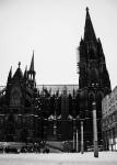 Kölner Dom im Winter mit Schnee